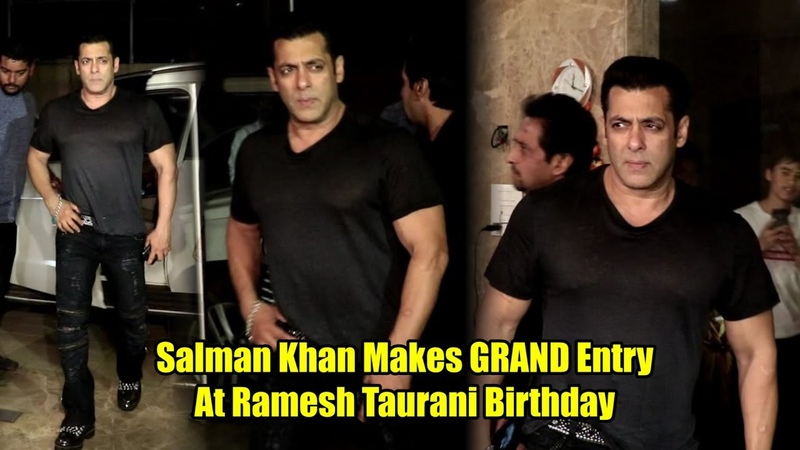 Salman Khan Makes Grand Entry At Ramesh Taurani Birthday | Full Night Party