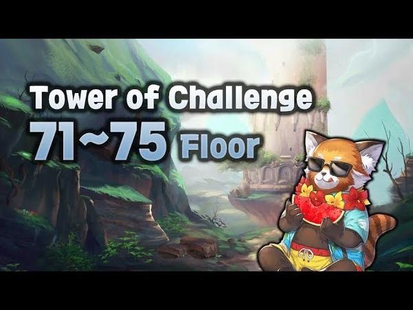 [King's raid] Tower of Challenge 71~75 Floor!