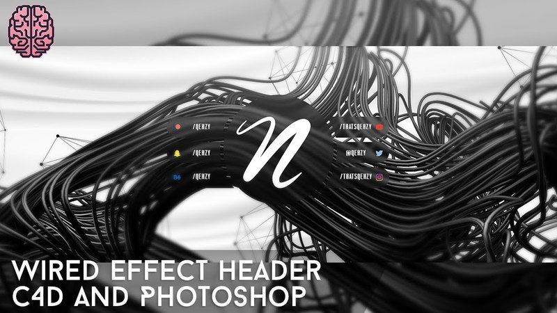 Tutorial: Wired Effect Header | C4D Photoshop by Qehzy