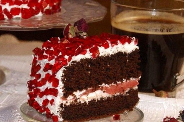 Бисквитный торт «Рубин»