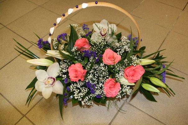 Цветы в корзине своими руками мастер класс
