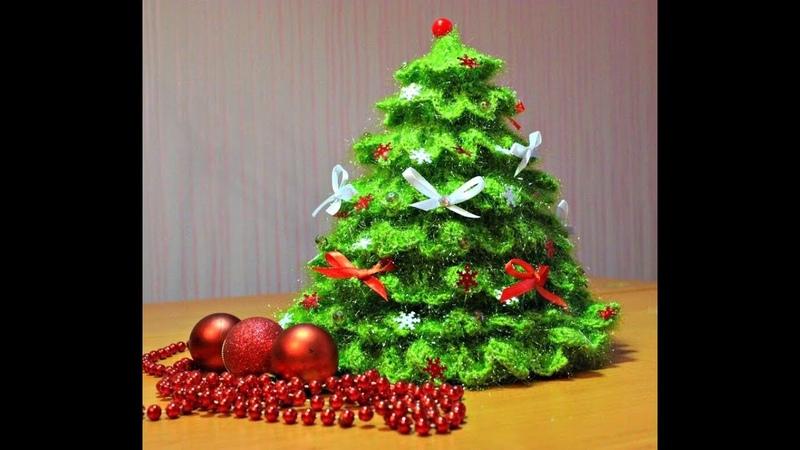 Как связать Елочку крючком ЧАСТЬ 1 ВЯЖЕМ КОНУС Knit christmas tree