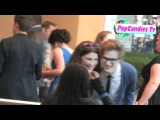 Damian McGinty Hannah McIalwain & Cameron Mitchell greets fans @ Glee The 3D Concert Movie Premiere!