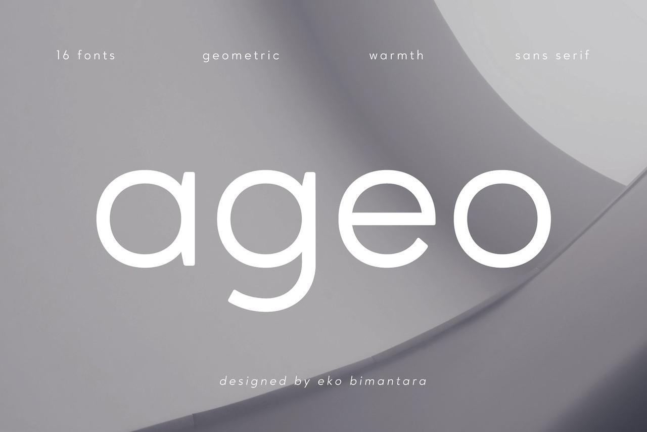 Шрифт - Ageo