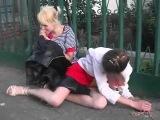 Пьяные бухие девушки малолетки отдохнули на природе 2014