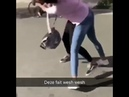 Love that cunt knee and uuuu vioce from the one getting hit