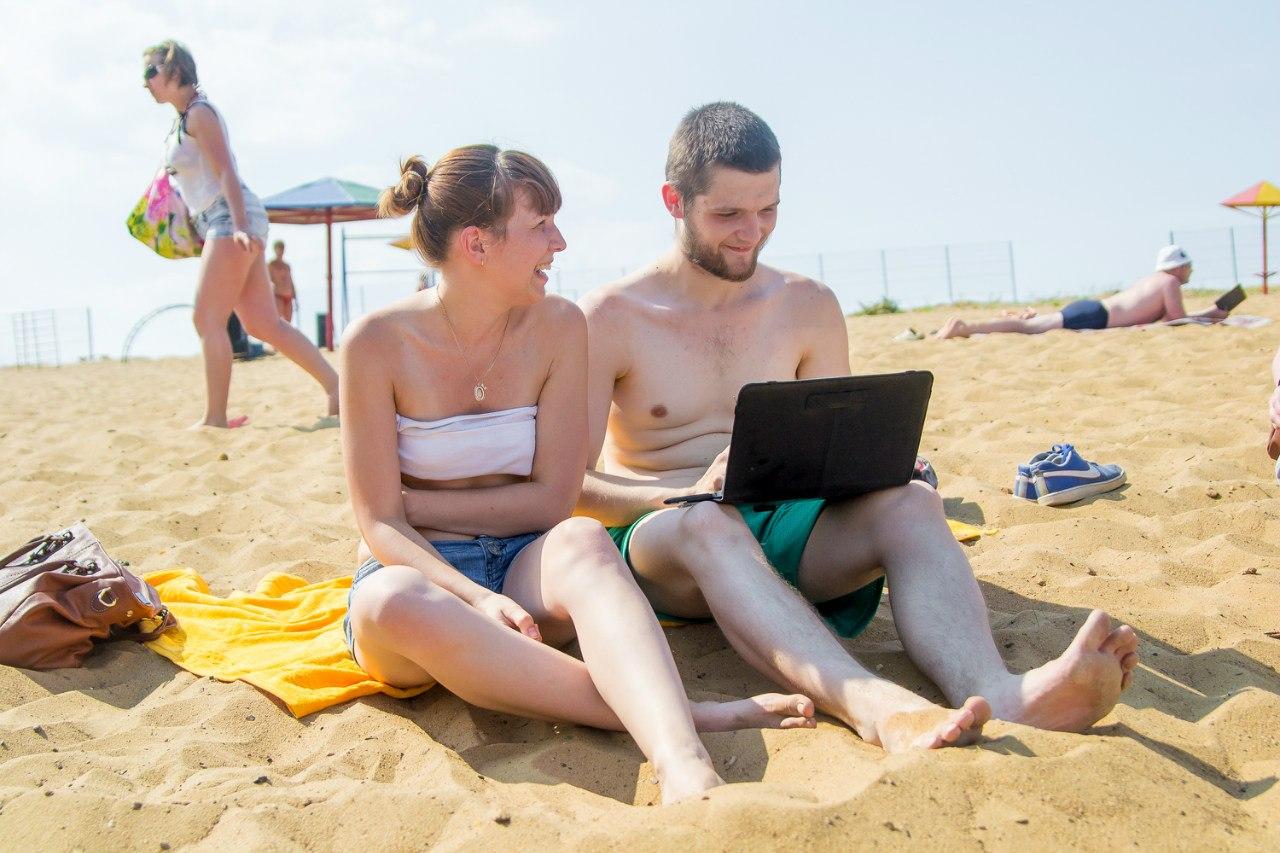 Фото из нудиского пляжа и дети