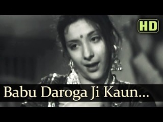 Babu Daroga Ji Kaun (HD) - Taqdeer Songs - Motilal - Nargis Dutt - Shamshad Begum