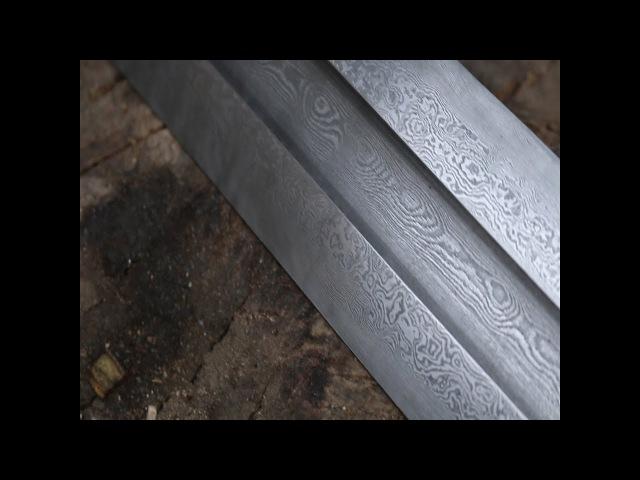Forging a Damascus Viking sword part 1