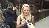 Elisabeth Moss signs autographs for TopPix