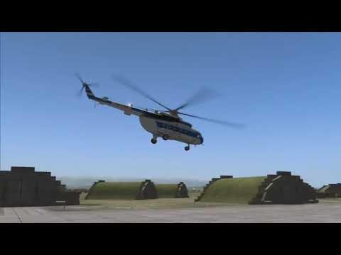 Необычный высший пилотаж на вертолёте