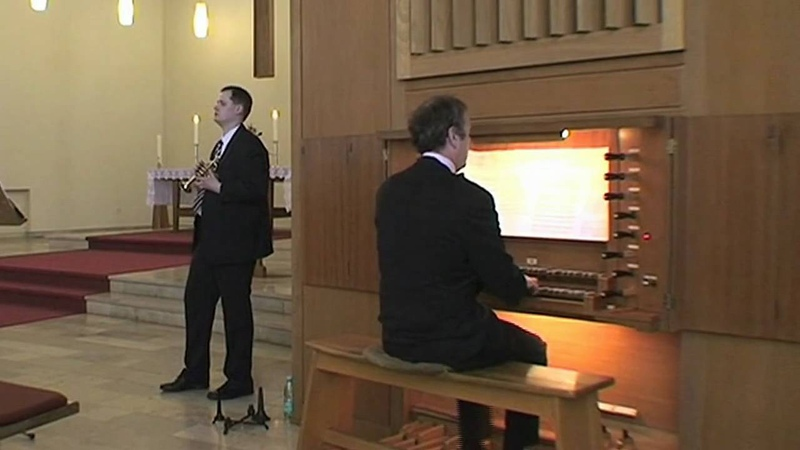 Trompete und Orgel Jean Joseph Mouret, Guay aus der Premiere Suite de Fanfares