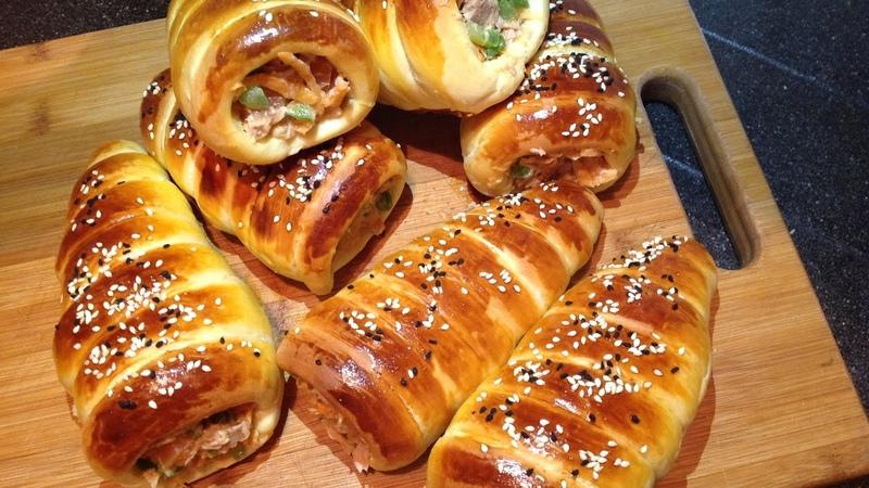 Булочки с тунцом и овощами / Rooti iyo qudaar Ramadanka u fican | Bread cones recipe