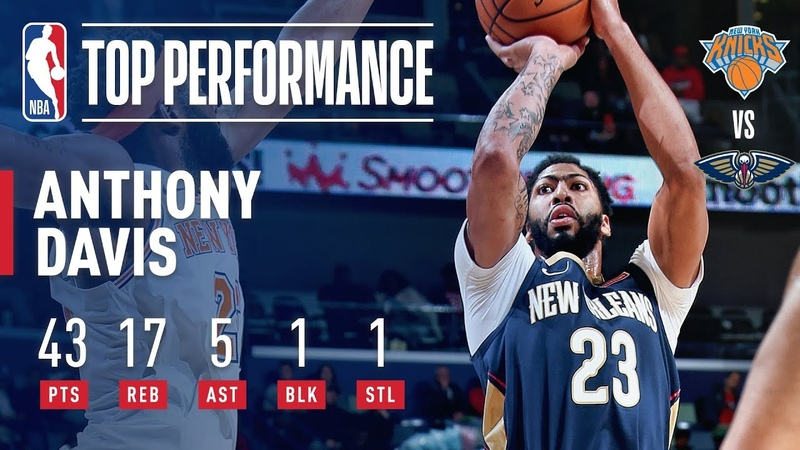 Anthony Davis Displays His Dominance 43 POINTS 17 REBOUNDS Against New York | November 16, 2018 NBANews NBA Pelicans AnthonyDavis