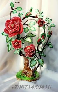Фото поделок из бисера цветы и деревья 34