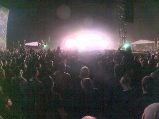 рок фестиваль над Волгой г. Самара 08.06.2013 Rammstein конец концерта и салют