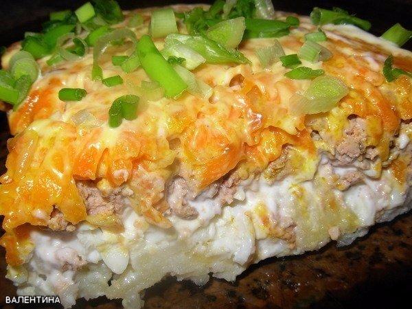 Простой печеночный салатик Салат очень вкусный! В этот раз