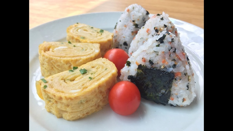 Tamagoyaki Onigiri Breakfast Recipe