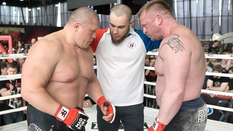 Бой Максим Новоселов против Игоря Кузнецова Вбил голову в ринг