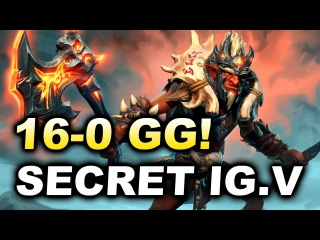 SECRET vs iG.Vitality - Brutal 16-0 GG - SL i-League 3 Dota 2
