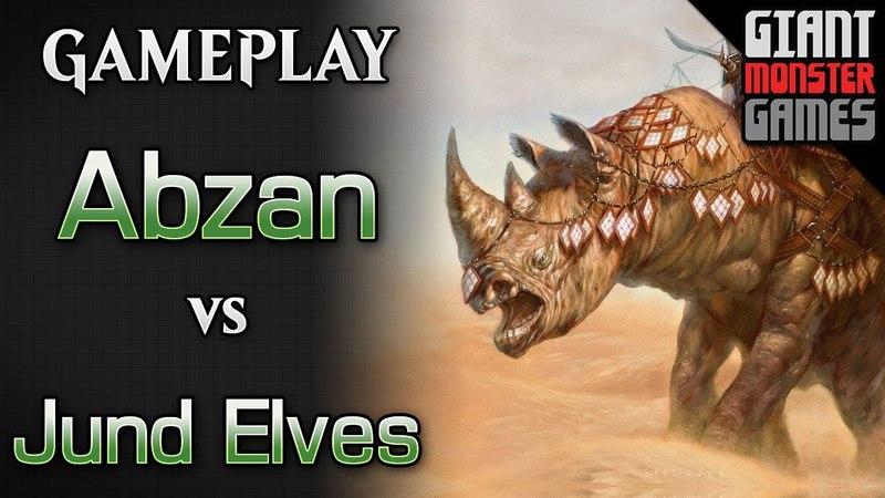 Budget Abzan Midrange -vs- Jund Elves - MTGO Gameplay 03