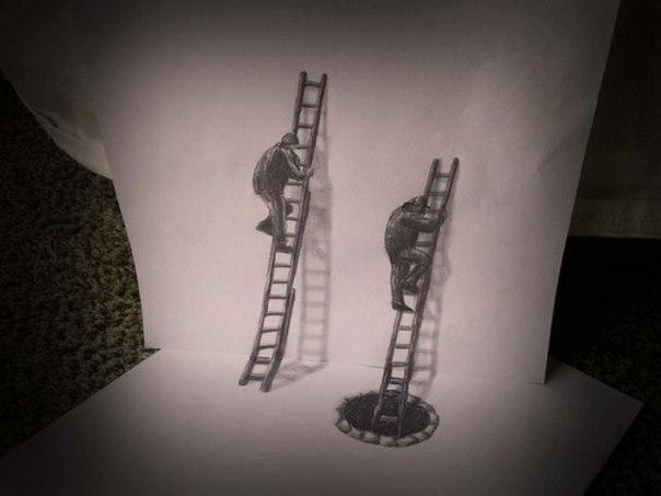 3 д рисунки карандашом: