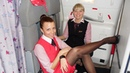 Hot Air Stewardess in Tights Pantyhose Nylons