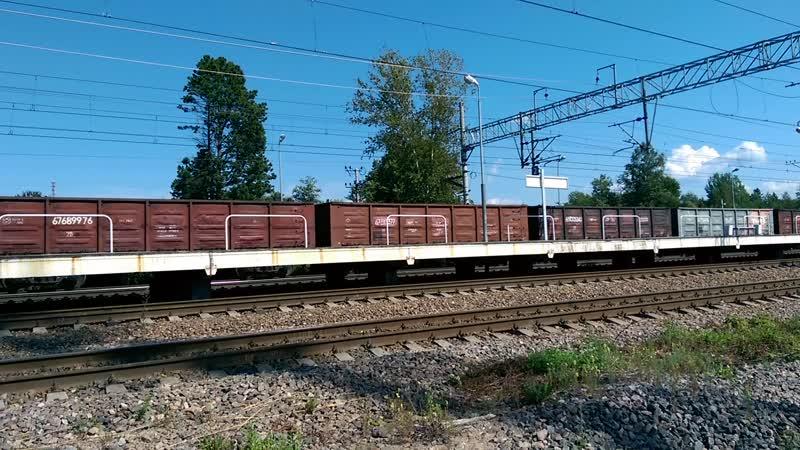 ВЛ10-1639 проходит мимо станции Верхне-Черкасово