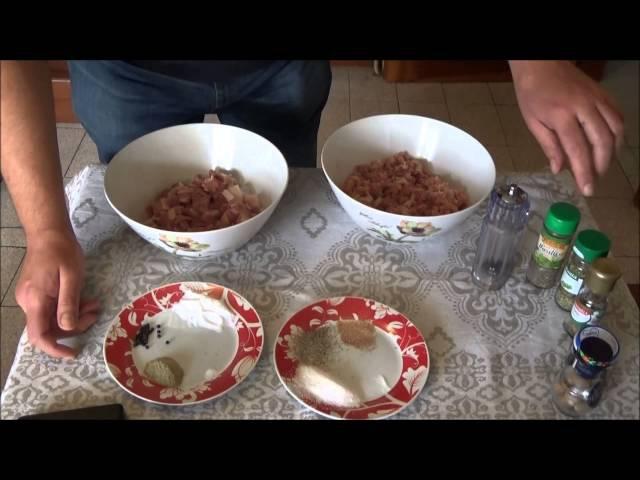 Как готовят Салями в Италии . Пошаговый рецепт !