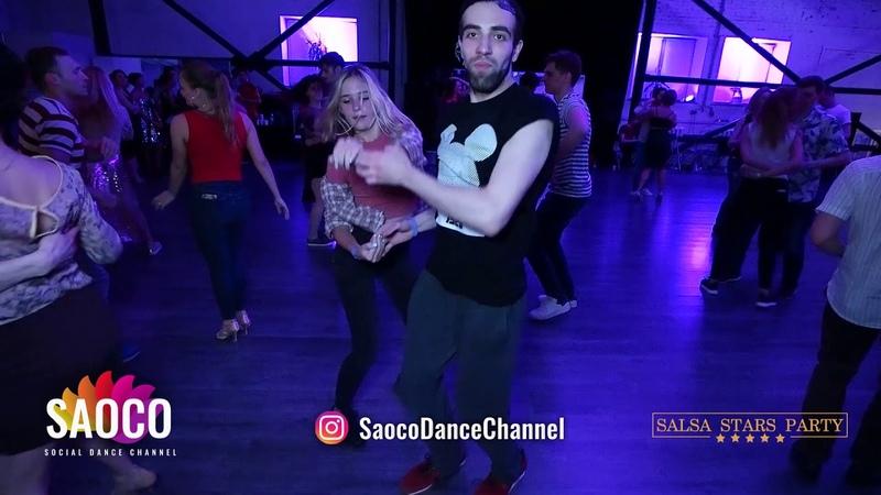 Man and Lady Salsa Dancing at Salsa Stars Party, Friday 15.02.2019