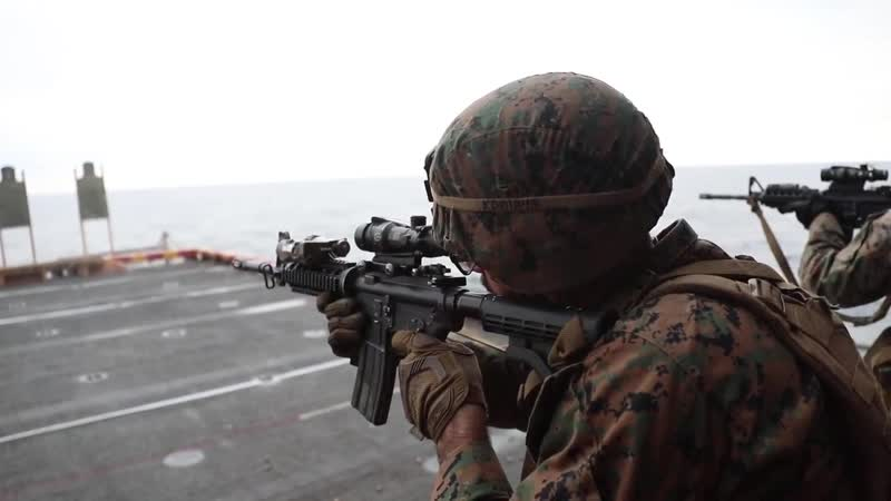 Company F Marines refine weapon proficiency (B-Roll) EAST CHINA SEA 16.10.2018