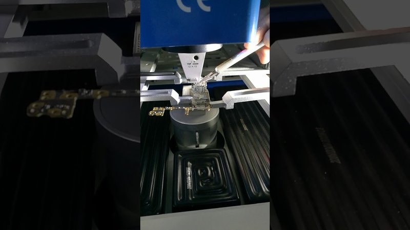 Iphone U2 remove by WDS-620 BGA rework station with optical alignment system