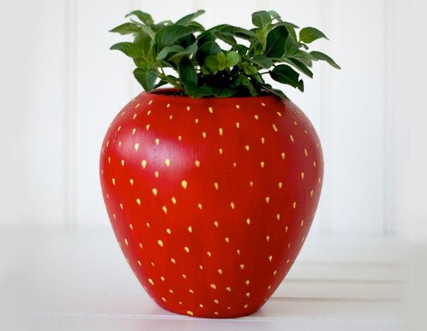 Оригинальный декор цветочного горшка (5 фото) - картинка