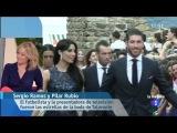 Pilar Rubio y Sergio Ramos en la boda del torero Talavante