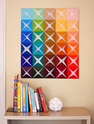 Декор стены панно из бумаги (5 фото) - картинка