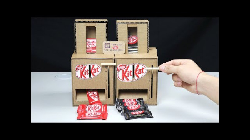 Wow! DIY KitKat Chocolate Vending Machine