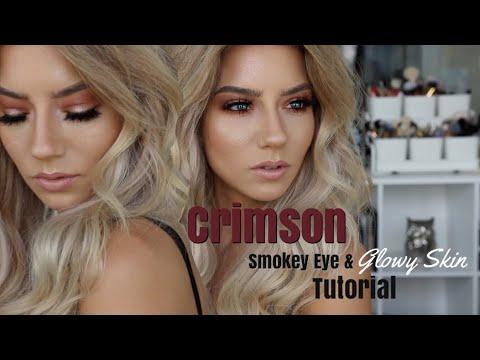 Crimson Smokey Eye Glowy Skin Quickie Tutorial