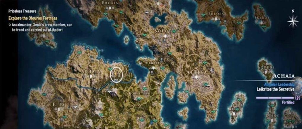Старый кофейник карта нахождения Assassin's Creed Odyssey