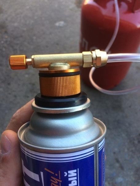 Переходник для заправки газовых баллонов. 🔥 © alipab.ru.