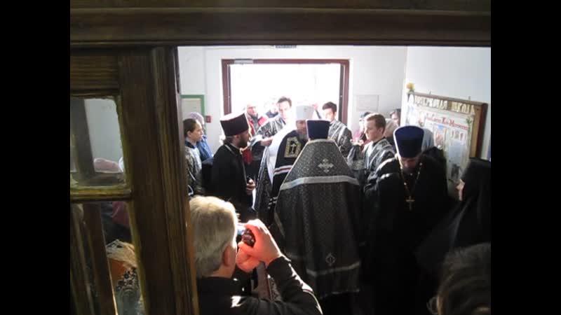 Встреча Митрополита Псковского и Порховского Тихона в храме св жен мироносиц 13 марта 2019 года