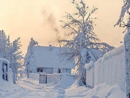 в моем детстве зима была такой... (источник: gofazenda)