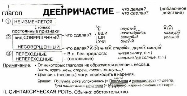Деепричастие | Русский язык