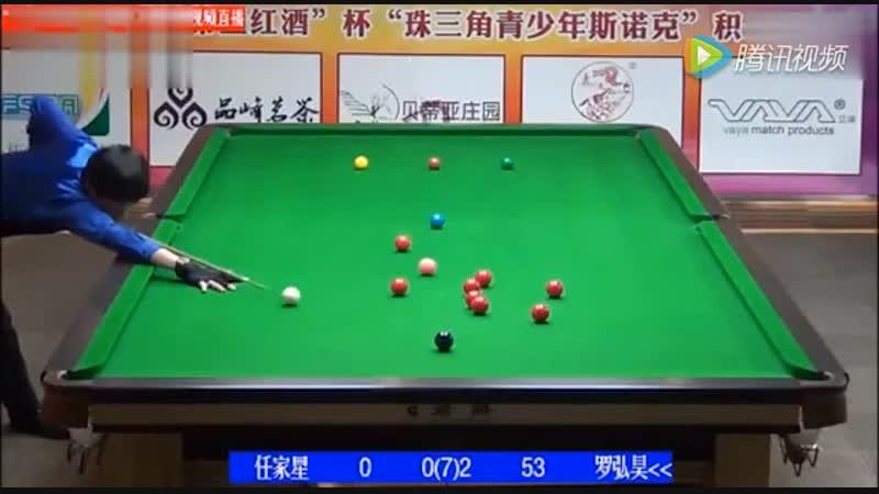 Снукер Ло Хунгао (Luo Honghao) делает 147 на юношеском чемпионате мира