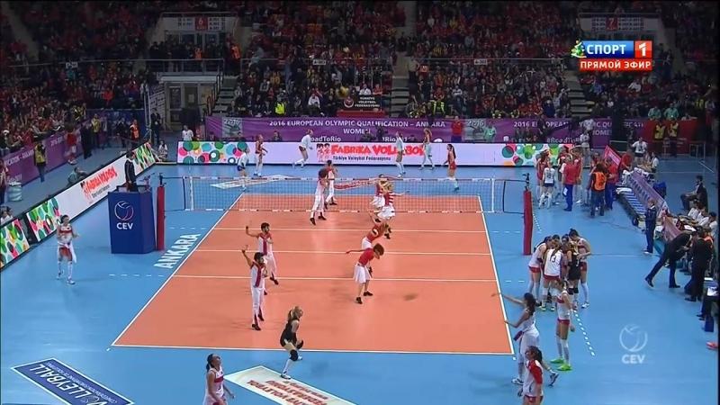 Волейбол. женщины . ЕОО-2016. Россия-Турция. Багга. 08.01.2016