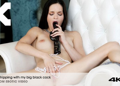 Stripping With My Big Black Cock