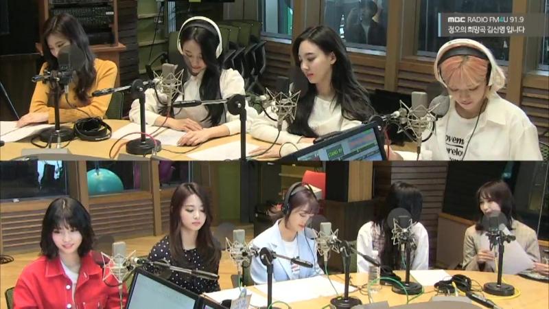 180413 Twice на радио MBC @ FM4U Kim Shin Young's Hope Song At Noon Radio
