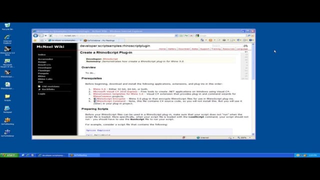 How to Create a RhinoScript Plug-In for Rhino 5.0