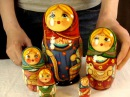 Nesting dolls Matrioshka Girl with Beam Рос арт