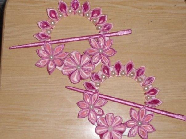 Канзаши плетение резинки