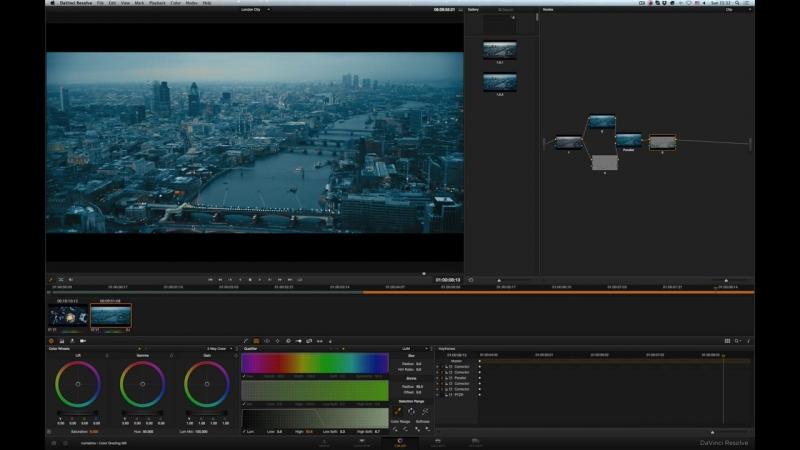 Сине-жёлтый Лондон в Davinci Resolve-HD (1)